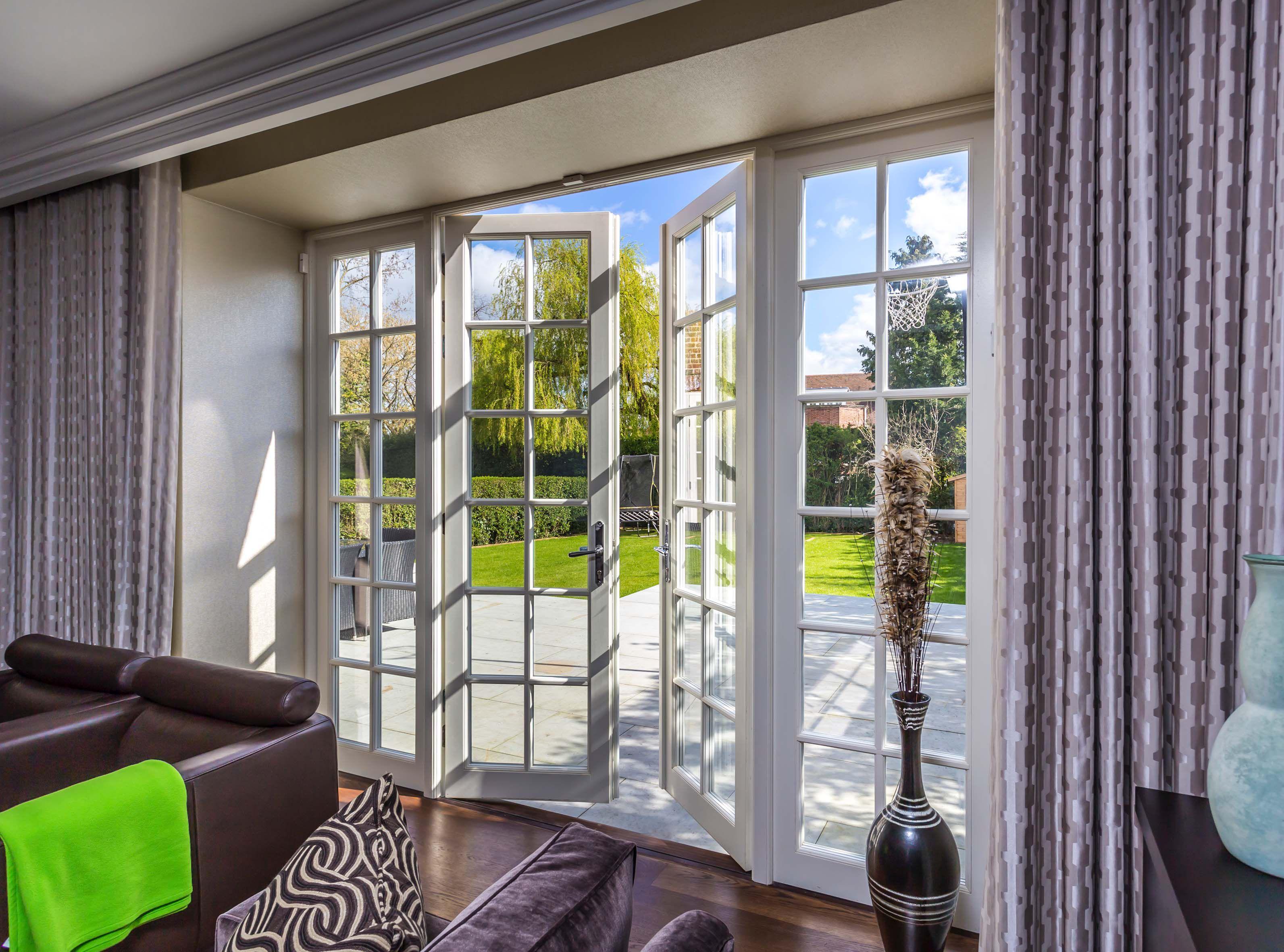 Wooden French Doors For Elegant Balconies Amp Doorways